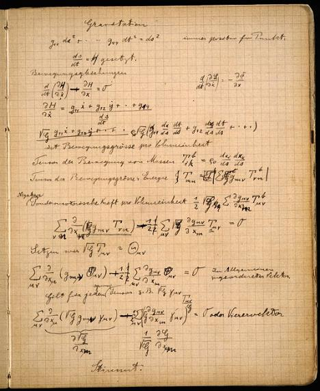 A Peek into Einstein's Zurich Notebook